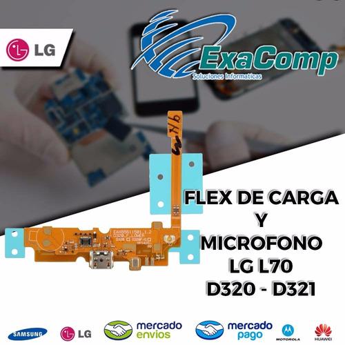 flex de carga + microfono lg l70 d320 - d321 envios