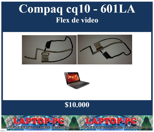 flex de video compaq cq10 - 601la