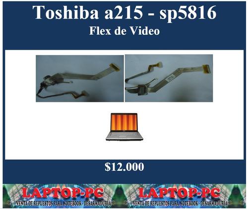flex de video toshiba a215 - sp5816