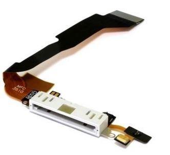 flex dock conector carga microfono iphone 4s blanco a+++