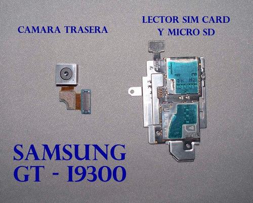flex lector de sim card y micro sd  samsung s3 - gt-i9300