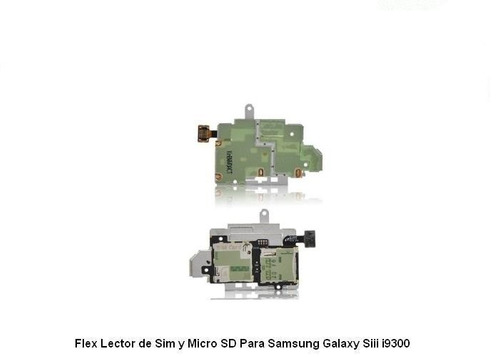 flex lector de sim/microsd para samsung galaxy siii/s3/i9300