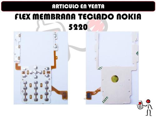 flex membrana teclado nokia 5220 nuevo sellado somos tienda