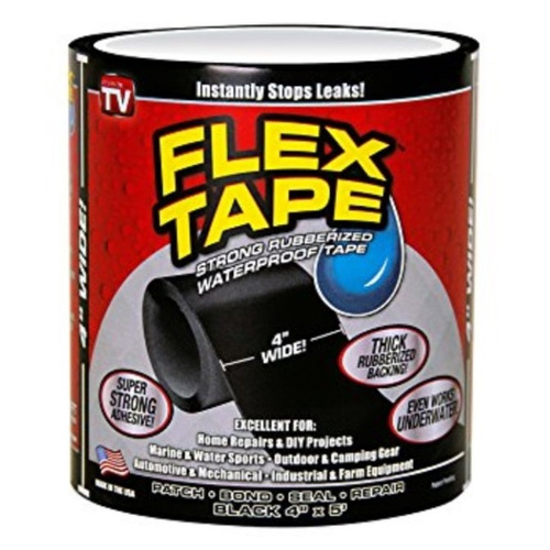 flex tape fita super resistente black 150 cm x 10 cm