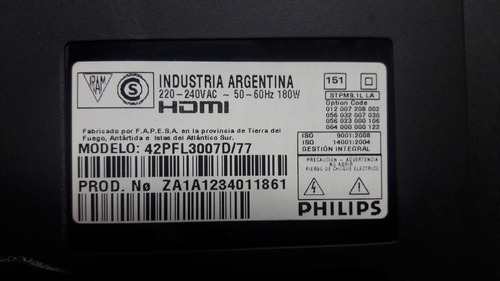 flex tcon panel philips 42pfl3007d