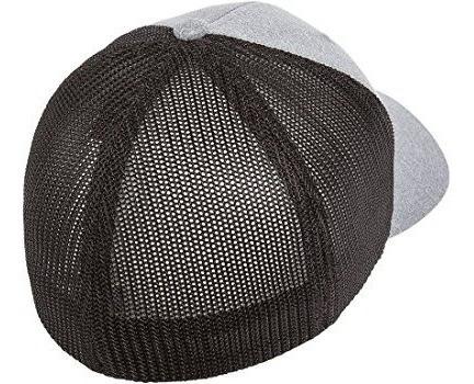 flexfit melange gorra de malla elástica para hombre
