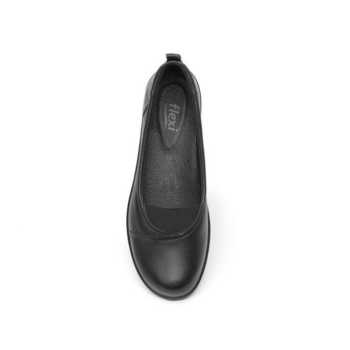 5d581c58 Flexi Balerina Flats Zapato De Piso Negro Mujer Piel Comodas ...