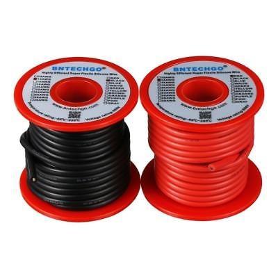flexible de silicona de calibre 14 25 ft:red de alambre y al