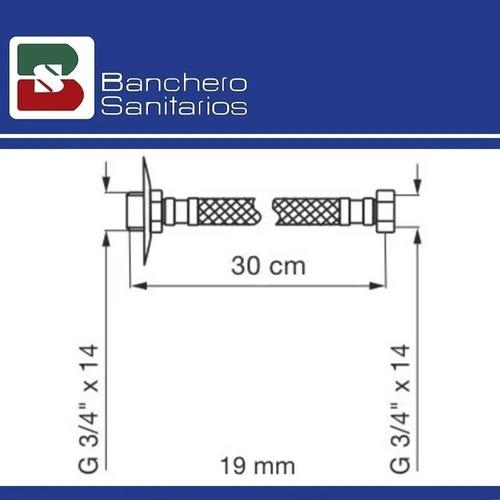 flexible fv mallado 1/2 x 30 acero inoxidable 0261