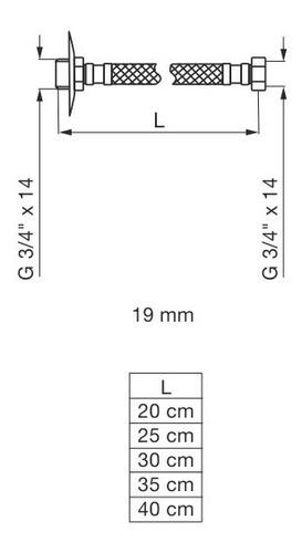 flexible fv mallado 1/2 x 35 acero inoxidable 0261