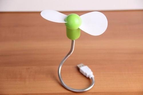 flexible usb mini ventilador enfriamiento cooler laptop pc
