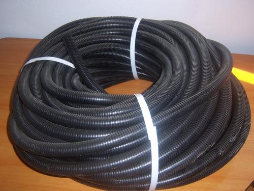 flexicon 1/2 y 3/4 negro rollo 50mts