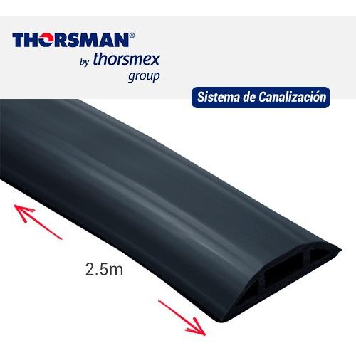 flexiductho para piso o zoclo negro thorsman 9300-01254 2.5m
