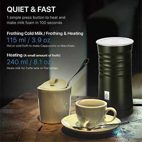 flexzion espumador de leche automatico cafe latte capuchino