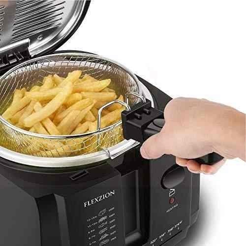 Flexzion Freidora Con Cesta Cocina Electrica Casera 145 990