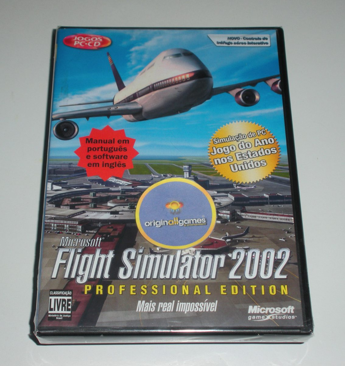 Flight Simulator 2002 Prof ¦ Jogo Pc Orig Lac ¦ Mídia Física