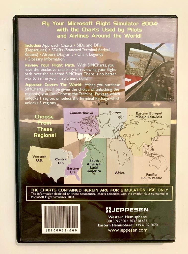 Flight Simulator Sim Chart By Jeppesen