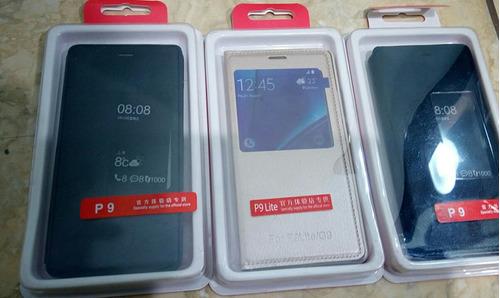 flip cover con sensor para huawei p8 lite,p9,p9 lite