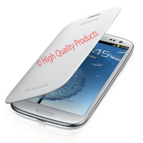 flip cover for samsung galaxy s3 (marble white)
