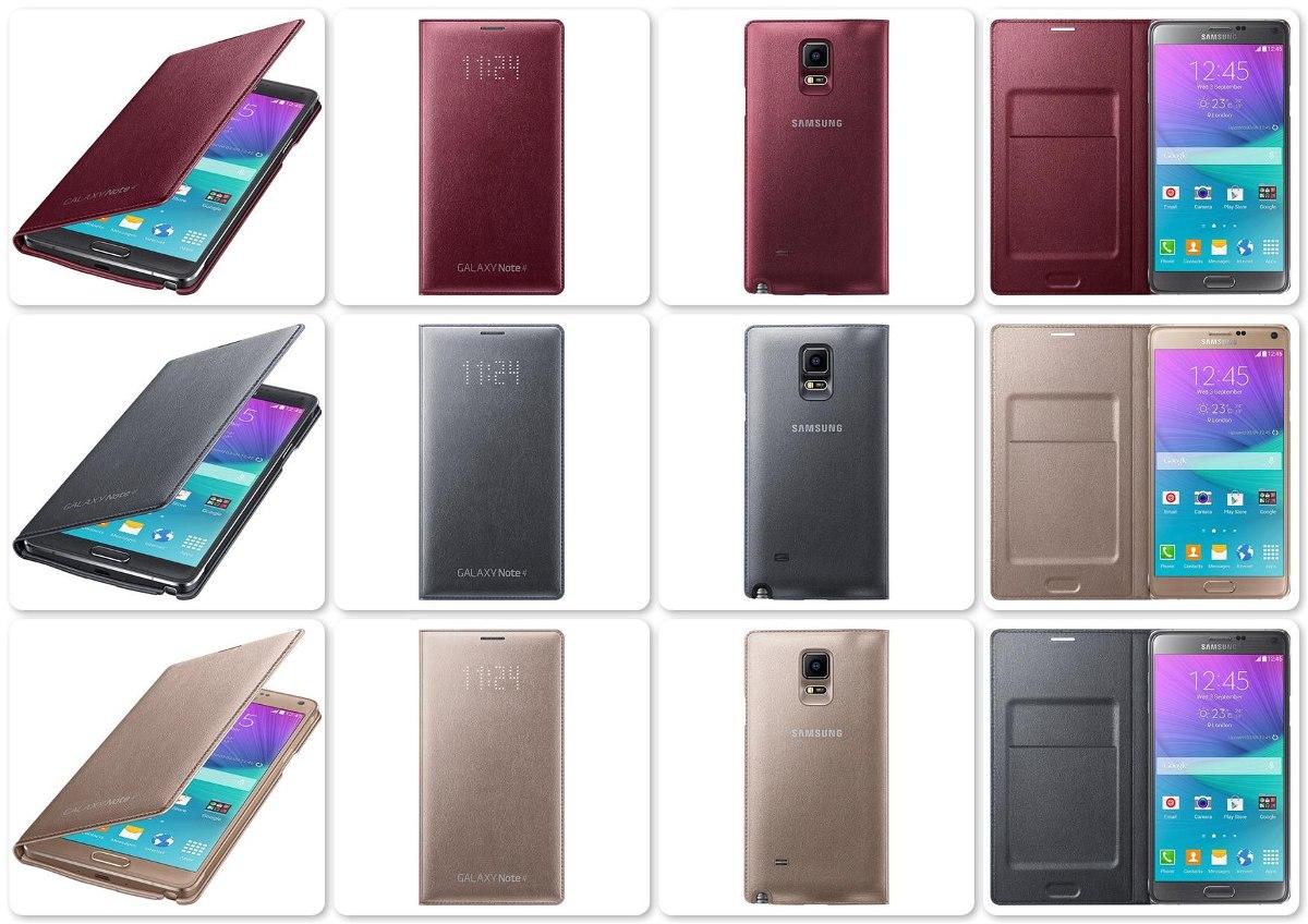 premium selection b2218 2a523 Flip Cover Led Samsung Galaxy Note 4 Original