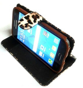 flip cover leopardo modelo exclusivo p/ mujeres p/ sam. a3