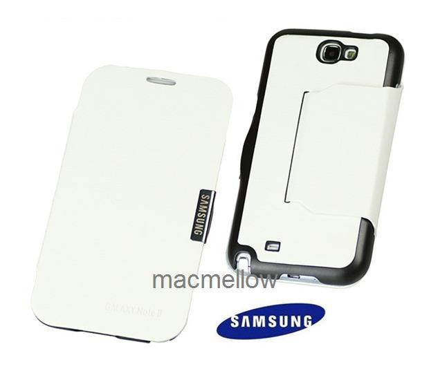 Flip cover n7100 funda estuche original blanco galaxy note 2 s 39 00 en mercado libre - Note 2 fundas ...