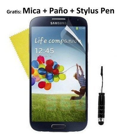 flip cover sview samsung galaxy s4 mini + mica + pen