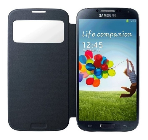 flip covers-view samsung s4 i9500 gratis glass