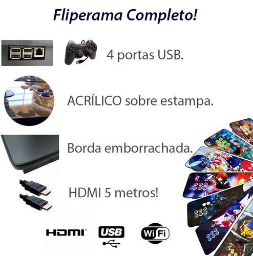 fliperama portátil 11000 jogos + ps1 64gb hdmi 5m zero delay