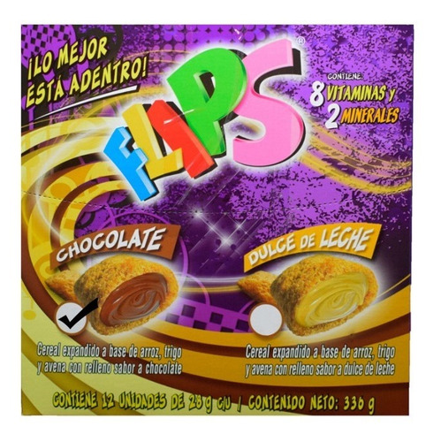 flips to go chocolate display x 12 unidades