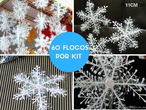 floco de neve 3d frozen natal decoração festa inverno 60un