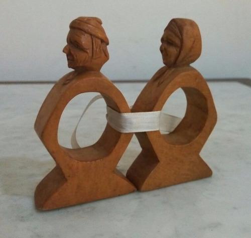 flok art par servilleteros madera firmados olivier belanger