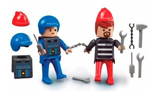 flokys policia y ladron bloques ladrillos de rasti en cadia