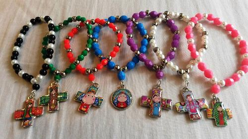 flopi accesorios 12 pulseras porfis  dijes souvenirs