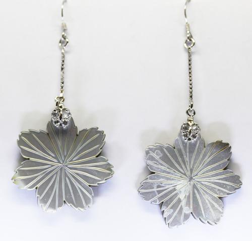 flor - brinco em prata 925 - coleção 2016