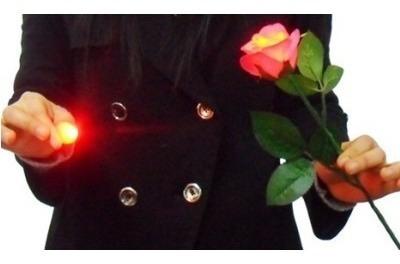 flor con luz magia truco luces rosa d'lite / alberico magic