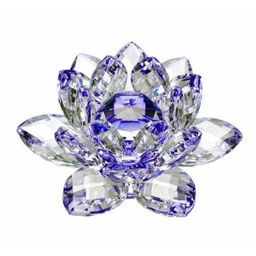 flor de loto de cristal brillante,decoración del hogar.