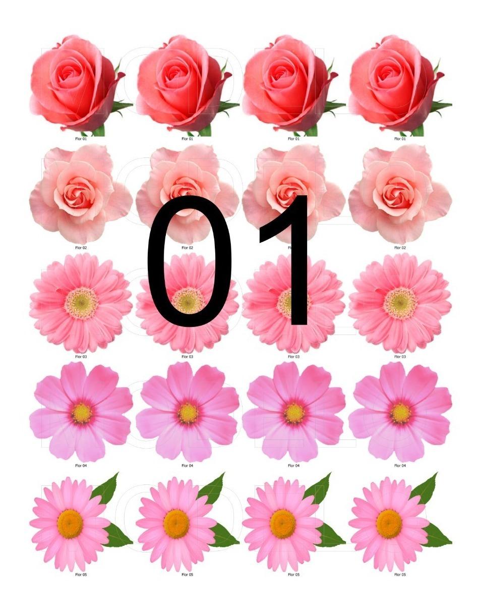 Flor De Papel De Arroz P Bolos Cupcakes 132 Unidades