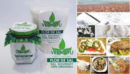flor de sal 100% natural frasco 240 gramos