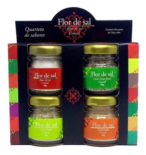 flor de sal cimsal-(caixa com 10x4x30g) quarteto de sabores