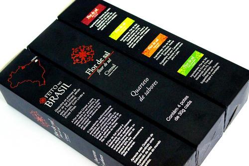 flor de sal cimsal quarteto de sabores 4x30g