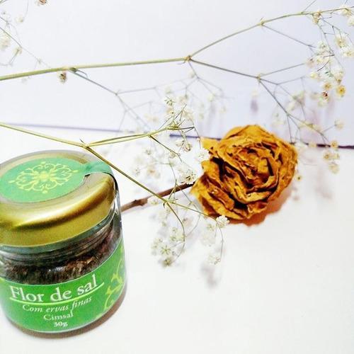 flor de sal cimsal temperada - defumada, limão e ervas finas