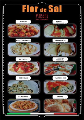 flor de sal massas artesanais pré-cozidas/pizzas pré-assadas