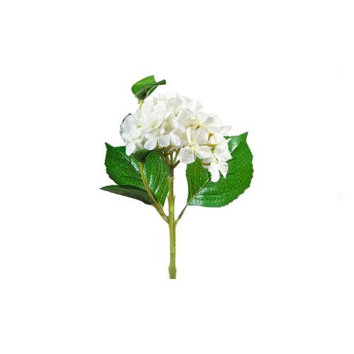 flor decorativa tela blanca alambre decoracion bm home