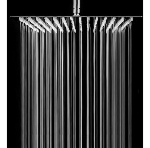 flor ducha 20x20cm acero inoxidable + brazo vertical radison