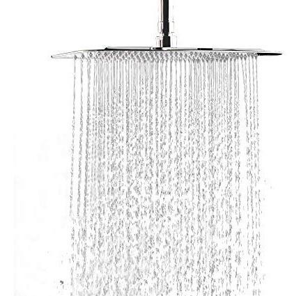 flor ducha 30x30cm ultra fina con brazo - excelente 30 x 30