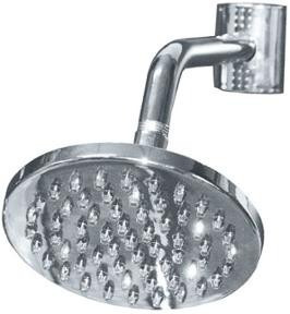 flor ducha cromada baño duchon 15cm redonda incluye caño