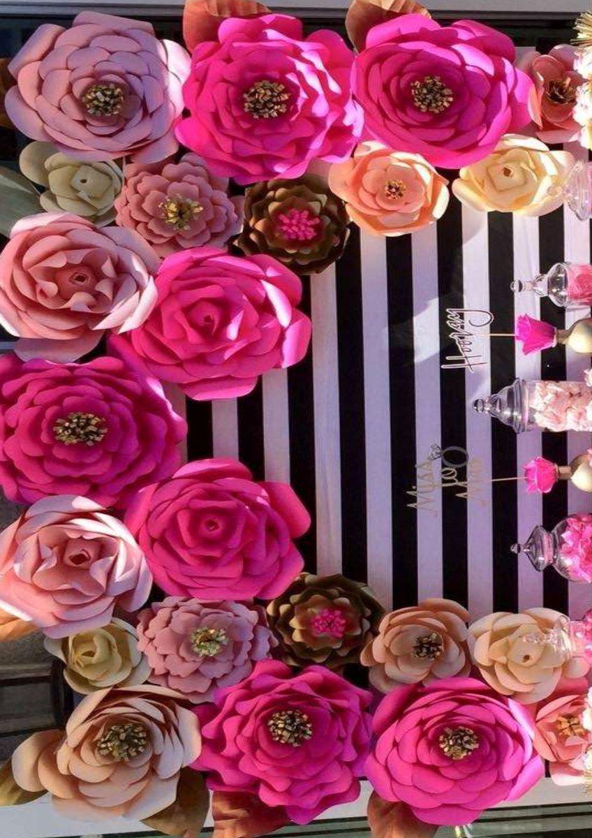 Flor Gigante Festa Aniversário Casamento Vitrine C 15 R$ 180,00 em Mercado Livre -> Decoração De Aniversário Com Flores Gigantes