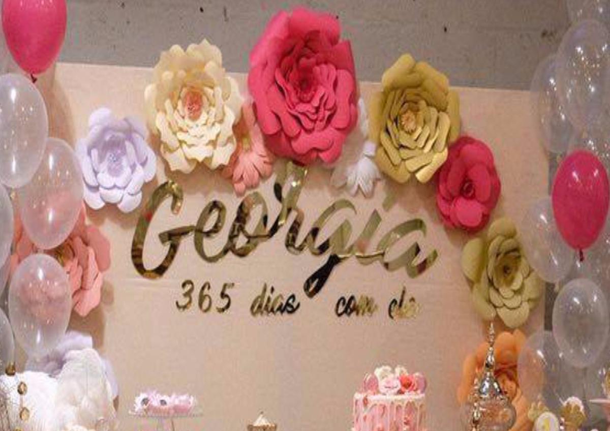 Flor Gigante Festa Aniversário Casamento Vitrine C 15 R$ 180,00 em Mercado Livre -> Decoração De Flores Festa