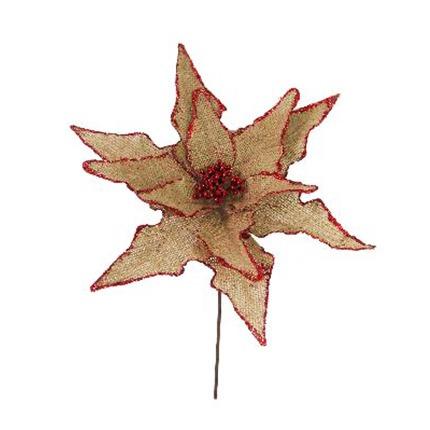 flor navidad decorativo 30x20 cm.